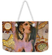 Aphrodite And Ancient Cyprus Map Weekender Tote Bag