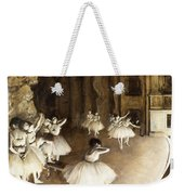 Ballet Rehearsal On Stage Weekender Tote Bag