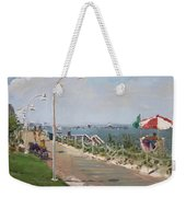 Beach Border Walk In Norfolk Va Weekender Tote Bag