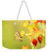 Bee On Milkweed Weekender Tote Bag