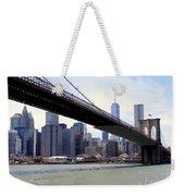 Nyc Skyline-brooklyn Bridge Weekender Tote Bag