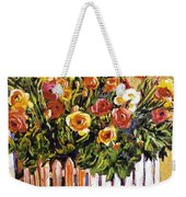 Chair Of Flowers Weekender Tote Bag