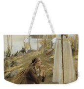 Christ And Mary Magdalene A Finnish Legend Weekender Tote Bag