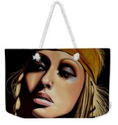 Christina Aguilera Painting Weekender Tote Bag