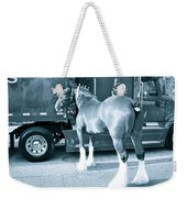 Clydesdale In Black And White Weekender Tote Bag