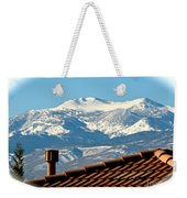 Cold Day New Snow Up There Weekender Tote Bag