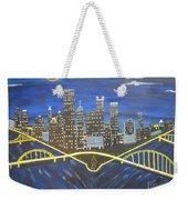 Crescent Over Pittsburgh  Weekender Tote Bag
