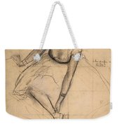 Dancer Adjusting Her Slipper Weekender Tote Bag