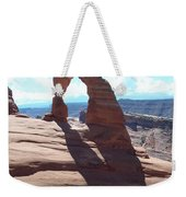 Delicate Arch And Shadow Weekender Tote Bag