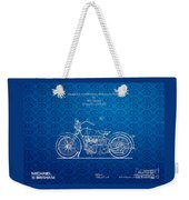 Design For A 1928 Harley Motorcycle Patent Weekender Tote Bag