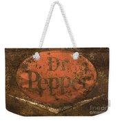 Dr Pepper Vintage Sign Weekender Tote Bag by Bob Christopher
