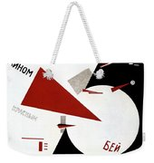 Drive Red Wedges In White Troops 1920 Weekender Tote Bag by Lazar Lissitzky