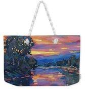 Dusk River Weekender Tote Bag