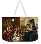 English Bulldog Art Canvas Print - The Garden Party Weekender Tote Bag