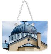 Exterior Of  Holy Trinity Gree Weekender Tote Bag