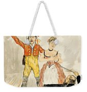 France Paris Poster Of Stage Performance At Cafe Chantant Weekender Tote Bag