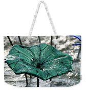 Glass Lily Pad  Weekender Tote Bag