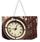 Historic Clock Of The Fifth Avenue Weekender Tote Bag