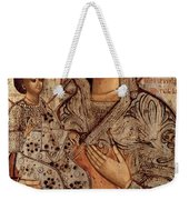 Icon Of The Blessed Virgin With Three Hands Weekender Tote Bag by Novgorod School