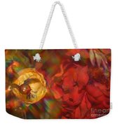 Impressionistic Bouquet Of Red Flowers Weekender Tote Bag