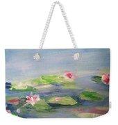 Impressionistic Lilies Monet Weekender Tote Bag