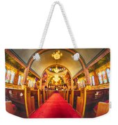 Interior Of  Holy Trinity Gre Weekender Tote Bag