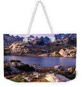 Island Lake And Wind River Range Weekender Tote Bag