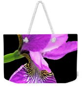 Japanese Iris Violet Black  Weekender Tote Bag