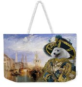 Japanese Spitz Art Canvas Print Weekender Tote Bag