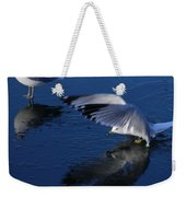 Landing On Icy Water Weekender Tote Bag