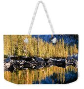 Larch Tree Reflection  Weekender Tote Bag