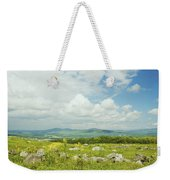 Large Blueberry Field With Mountains And Blue Sky In Maine Weekender Tote Bag by Keith Webber Jr
