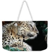 Leopard Watching It's Prey Weekender Tote Bag