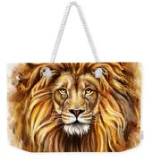 Lion Head In Front Weekender Tote Bag