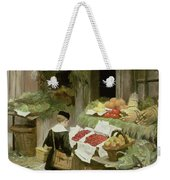 Little Boy At The Market Weekender Tote Bag