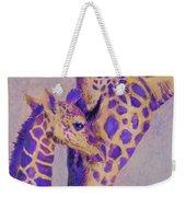 Loving Purple Giraffes Weekender Tote Bag
