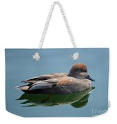 Male Gadwall Duck  Weekender Tote Bag