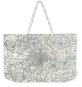 Map Of London And Environs Weekender Tote Bag