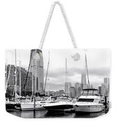 Marina In Black And White Weekender Tote Bag