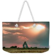 Midley Church Ruins At Sunset Weekender Tote Bag