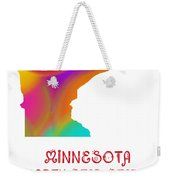 Minnesota State Map Collection 2 Weekender Tote Bag