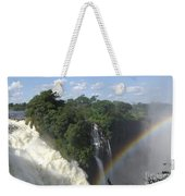 Mist And Rainbow At Victoria Falls Weekender Tote Bag