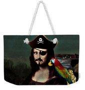 Mona Lisa Pirate Captain Weekender Tote Bag