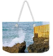 Negril Sea Splash Weekender Tote Bag