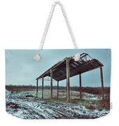 Old Barn In The Snow Weekender Tote Bag