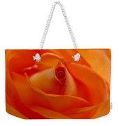 Orange Swirls Rose Flower Weekender Tote Bag