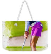 Paula Creamer Putts The Ball On The Fourth Green Weekender Tote Bag
