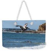 Pelican With Wet Feet Weekender Tote Bag
