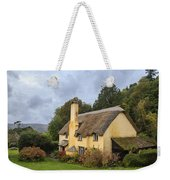 Picturesque Thatched Roof Cottage In Selworthy Weekender Tote Bag