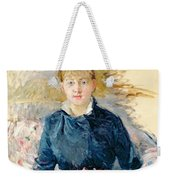Portrait Of Louise Riesener Weekender Tote Bag by Berthe Morisot